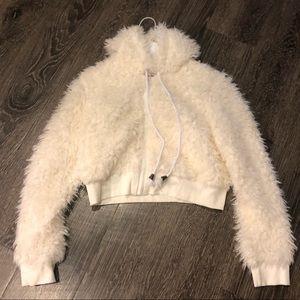 Zaful soft off white crop jacket